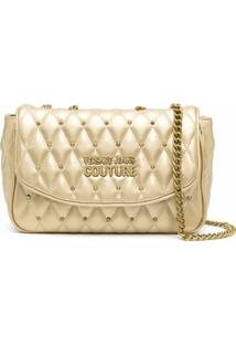 Versace Jeans Couture Metallic-Tone Shoulder Bag - Dourado