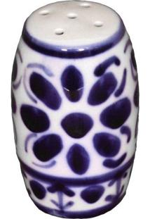 Saleiro Feito E Pintado A Mão Porcelana Monte Sião