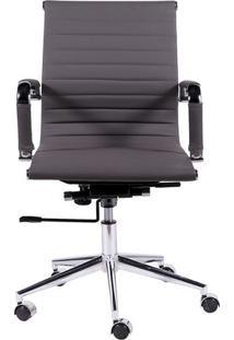 Cadeira Office Eames Esteirinha Baixa Giratã³Ria- Cinza