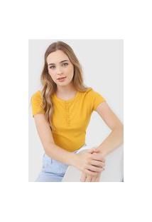 Blusa Malwee Canelada Amarela