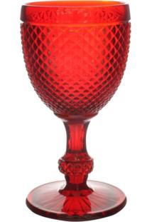 Taças De Agua Bico De Jaca Vermelha 6 Peças - Tricae