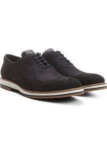 Sapato Casual Couro Reserva Gab Nobuck Masculino - Masculino-Marinho