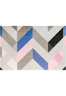 Jogo Americano Textilene 45X30Cm Abstrato Diagonal Rosa