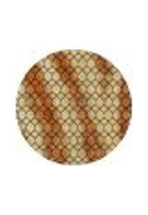 Tapete Marbella Vinay Redondo (200X200Cm) Caramelo E Creme