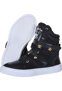Sneaker Eagle Black Fitness Feminino - Feminino-Preto