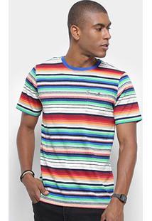 Camiseta Redley Fio Tinto Tijolo Masculina - Masculino