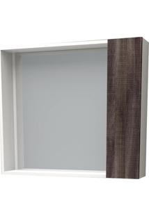 Espelheira Em Mdf Iara 52,4X60Cm Branco E Dakota