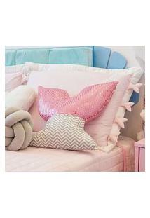 Capa Travesseiro Infantil Menina Rosa Sereia Gráo De Gente Rosa