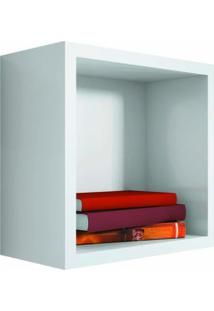 Nicho Quadrado Decorativo 31X31X15 Branco - Lymdecor
