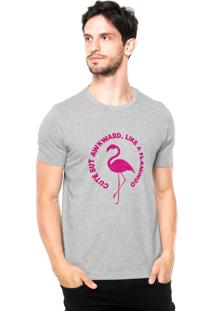 Camiseta Rgx Like A Flamingo Cinza