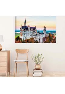 Quadro Love Decor Com Moldura Castelo Europeu Branco Grande