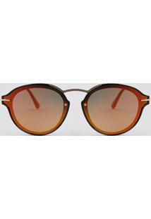 db76c210d R$ 49,90. CEA Óculos De Sol Redondo Feminino Oneself Dourado - Único