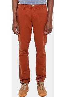 Calça Triton Bolso Faca Tinturada Color Masculina - Masculino