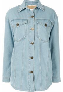 Nanushka Jaqueta Jeans Oversized - Azul