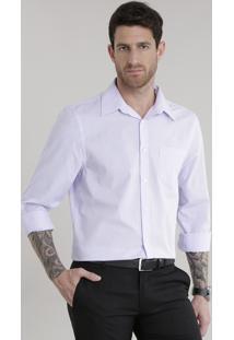 Camisa Comfort Xadrez Lilás