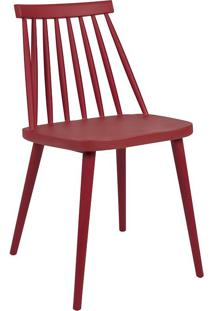 Cadeira Helô Vermelho Marsala