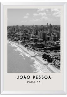 Quadro Oppen House 65X45Cm Cidades João Pessoa Brasil Moldura Natural Sem Vidro - Oppen House Decora