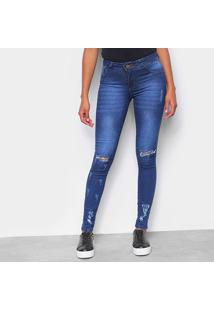 Calça Jeans Skinny Rasgo Feminina - Feminino