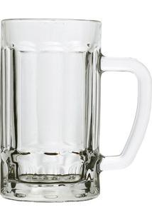 Caneca Para Cerveja Dynasty Em Vidro Beer Mug Transparente 410Ml
