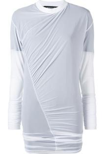 Y/Project Blusa Translúcida Com Franzidos - Branco