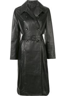 Joseph Trench Coat Romney - Preto