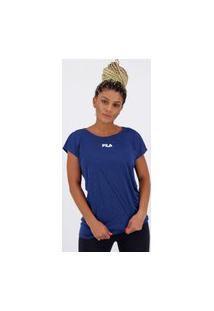 Camiseta Fila Drapped Ii Feminina Azul