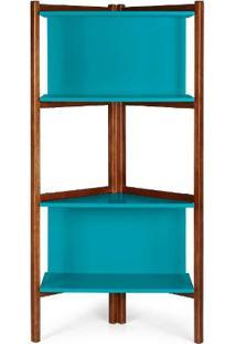 Estante Easy Cor Cacau Com Azul - 28988