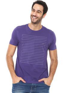 Camiseta Aramis Estampada Roxa