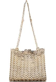 Paco Rabanne Gold Iconic Chain 1969 Cross Body Bag - Dourado