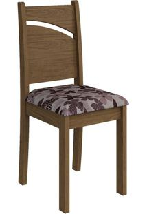 Cadeira Melissa Floral Bordô Savana