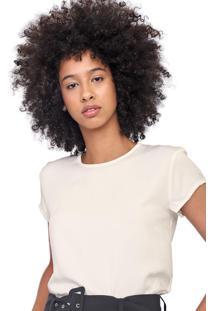 Camiseta Colcci Zíper Off-White