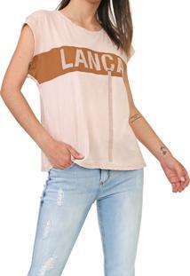 Camiseta Lança Perfume Aplicações Bege