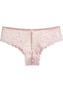 Calcinha Maxi Renda Embrace Lace Rosa Mauve