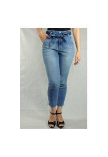 Calça Feminina Arbítrio Clochard Azul Jeans