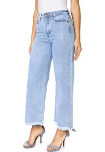Calça Jeans Carmim Pantacourt Pacific Azul
