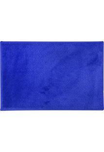 Tapete Para Banheiro Tove- Azul- 60X40Cm- Niazitniazitex