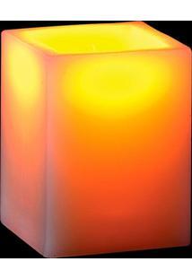 Vela De Led Decorativa Quadrada 10 Cm - Tricae