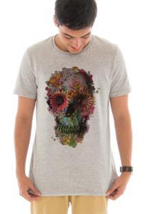 Camiseta Touts Caveira Florida Cinza