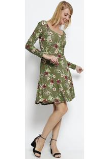 78a3969ee2 Privalia. Vestido Floral Manga Longa- ...
