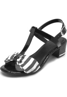 Sandália Dafiti Shoes Listras Preta