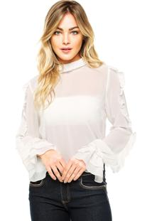 Camisa Manga Longa Carmim Therese Off-White