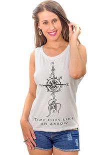 Regata Wevans Flecha Tattoo Branco