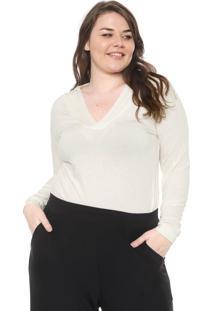 Blusa Nolita Plus Drapeada Off-White