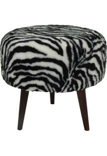 Puff 7002 439-Tecno Mobili - Castanho / Zebra