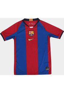 Camisa Barcelona Infantil 98/99 S/N° Torcedor Nike - Edição Limitada - Unissex