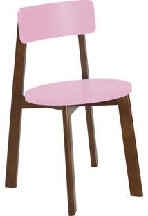 Cadeira Lina 75 Cm 941 Cacau/Rosa Cristal - Maxima