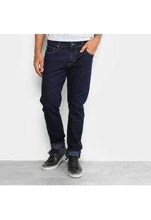 Calça Jeans Slim Forum Paul Slim Escura Elastano Masculina - Masculino