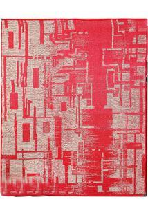 Tapete Sisllê Abstrato Iv Retangular Polipropileno (50X80) Bege E Vermelho