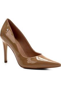 Scarpin Shoestock Salto Alto Naked - Feminino-Amendoa