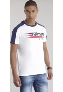"Camiseta ""Thunder Helmets"" Branca"